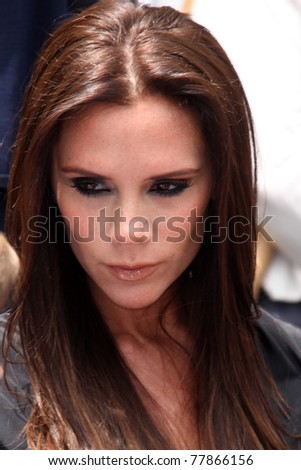LOS ANGELES - MAY 23:  Victoria Beckham at the Simon Fuller Hollywood Walk Of Fame Star Ceremony at W Hotel - Hollywood on May 23, 2011 in Los Angeles, CA