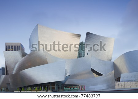 LOS ANGELES - MAY 11: Walt Disney Concert facade on May 11, 2011 in LA. The concert hall houses the Los Angeles Philharmonic Orchestra and is a design by architect Frank Gehry.