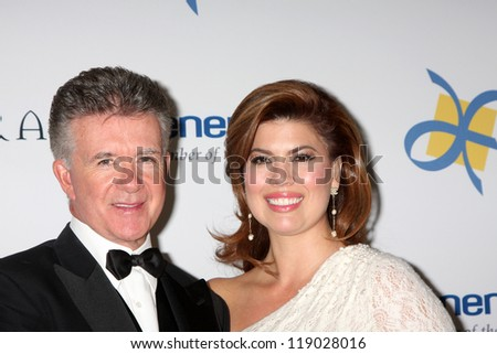LOS ANGELES - NOV 16:  Alan Thicke, Wife arrives for the 11th Annual Celebration of Dreams at Bacara Resort & Spa on November 16, 2012 in Santa Barbara, CA