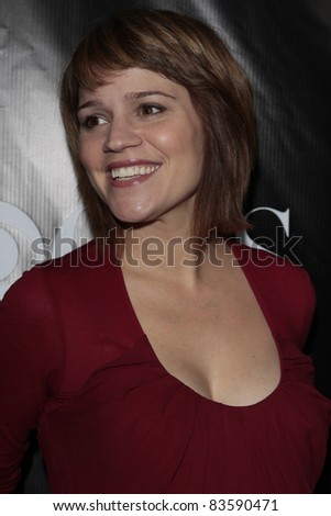 stock photo : LOS ANGELES - NOV 1: Anna Belknap (pregnant) at the