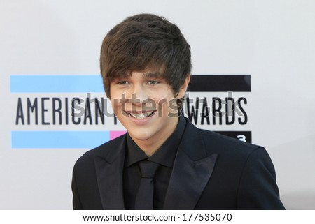 LOS ANGELES - NOV 24: Austin Mahone at the 2013 American Music Awards at Nokia Theater L.A. Live on November 24, 2013 in Los Angeles, California