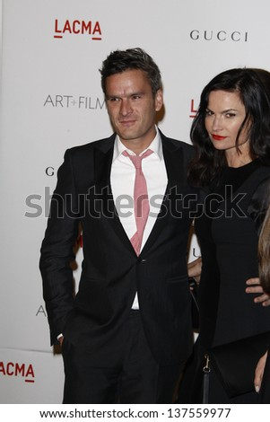 LOS ANGELES - NOV 5: Balthazar Getty, wife Rosetta at the LACMA Art + Film Gala on November 5, 2011 in Los Angeles, California