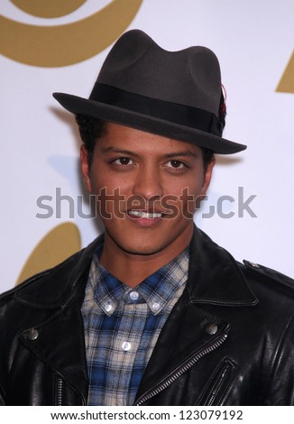 LOS ANGELES - NOV 30:  BRUNO MARS arrives to the Grammy Nominations Concert Live 2011  on November 30, 2011 in Los Angeles, CA