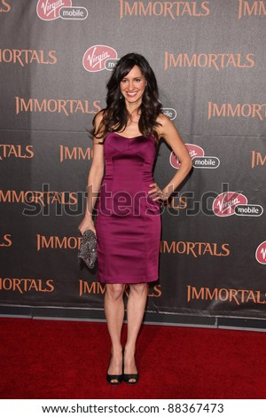 "LOS ANGELES - NOV 7:  Charlene Amoia arrives at the ""Immortals 3D"" Premiere at Nokia Theater at LA Live on November 7, 2011 in West Hollywood, CA"