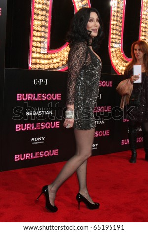 """LOS ANGELES - NOV 15: Cher arrives at the """"Burlesque"""" LA Premiere  at Grauman's Chinese Theater on November 15, 2010 in Los Angeles, CA"""