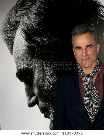 "LOS ANGELES - NOV 8:  Daniel Day-Lewis arrives at the ""Lincoln"" Premiere at the AFI Fest at Graumans Chinese Theater on November 8, 2012 in Los Angeles, CA"