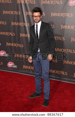 """LOS ANGELES - NOV 7:  Dominic Cooper arrives at the """"Immortals 3D"""" Premiere at Nokia Theater at LA Live on November 7, 2011 in West Hollywood, CA"""