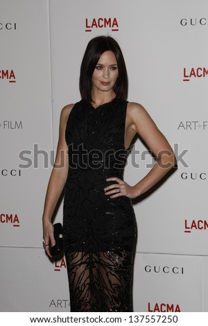 LOS ANGELES - NOV 5: Emily Blunt at the LACMA Art + Film Gala on November 5, 2011 in Los Angeles, California
