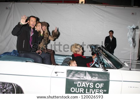 LOS ANGELES - NOV 25:  Eric Martsolf, Arianne Zucker, Eileen Davidson arrives at the 2012 Hollywood Christmas Parade at Hollywood & Highland on November 25, 2012 in Los Angeles, CA