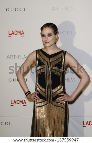 LOS ANGELES - NOV 5: Evan Rachel Woods at the LACMA Art + Film Gala on November 5, 2011 in Los Angeles, California