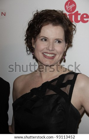 LOS ANGELES - NOV 16: Geena Davis at the 5th annual 'Rock the Kasbah' in support of Virgin Unite and the Eve Branson Foundation on November 16, 2011 in Los Angeles, California - stock photo