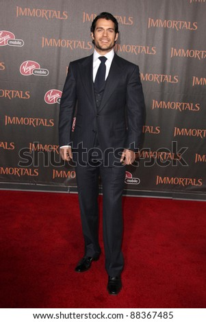 """LOS ANGELES - NOV 7:  Henry Cavill arrives at the """"Immortals 3D"""" Premiere at Nokia Theater at LA Live on November 7, 2011 in West Hollywood, CA"""