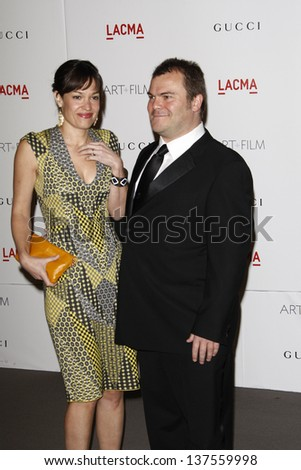 LOS ANGELES - NOV 5: Jack Black and wife at the LACMA Art + Film Gala on November 5, 2011 in Los Angeles, California