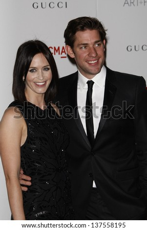LOS ANGELES - NOV 5: John Krasinski; Emily Blunt at the LACMA Art + Film Gala on November 5, 2011 in Los Angeles, California