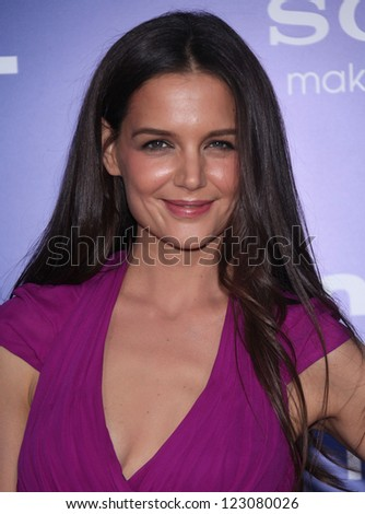 "LOS ANGELES - NOV 06:  KATIE HOLMES arriving to""Jack and Jill"" Los Angeles Premiere  on November 06, 2011 in Westwood, CA - stock photo"