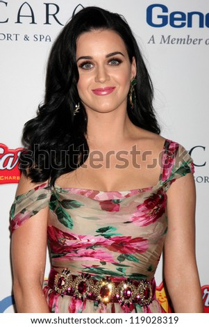 LOS ANGELES - NOV 16:  Katy Perry arrives for the 11th Annual Celebration of Dreams at Bacara Resort & Spa on November 16, 2012 in Santa Barbara, CA.