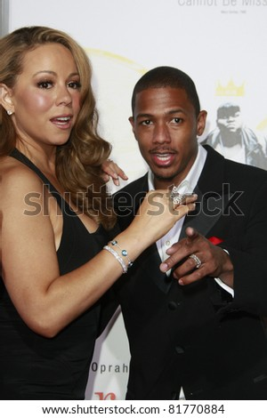 LOS ANGELES - NOV 1: Mariah Carey and Nick Cannon at the screening of \'Precious: Based On The Novel \'PUSH\' By Sapphire\' during AFI FEST 2009 in Los Angeles, California on November 1, 2009