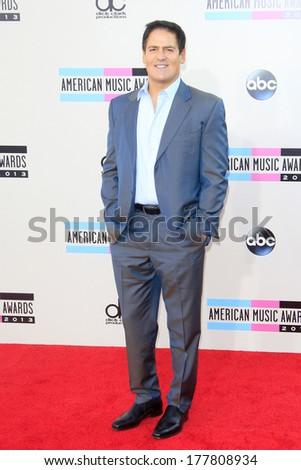 LOS ANGELES - NOV 24: Mark Cuban at the 2013 American Music Awards at Nokia Theater L.A. Live on November 24, 2013 in Los Angeles, California