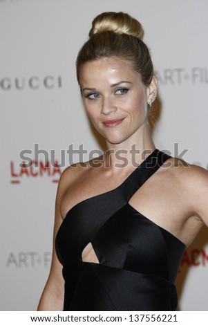 LOS ANGELES - NOV 5: Reese Witherspoon at the LACMA Art + Film Gala on November 5, 2011 in Los Angeles, California - stock photo