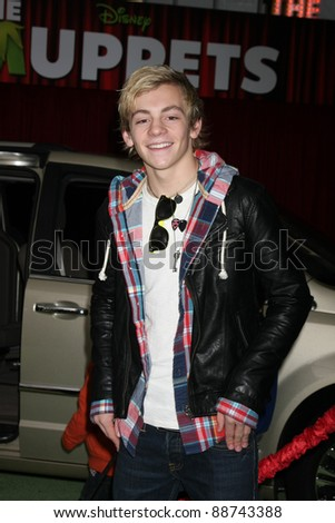"LOS ANGELES - NOV 12:  Ross Lynch arrive at the ""Muppets"" World Premiere at El Capitan Theater on November 12, 2011 in Los Angeles, CA"