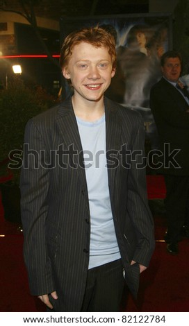LOS ANGELES - NOV 16: Rupert Grint at the 'Harry Potter and the Chamber of Secrets' Premiere at Mann Village Theatre on November 16, 2002 in Los Angeles, California