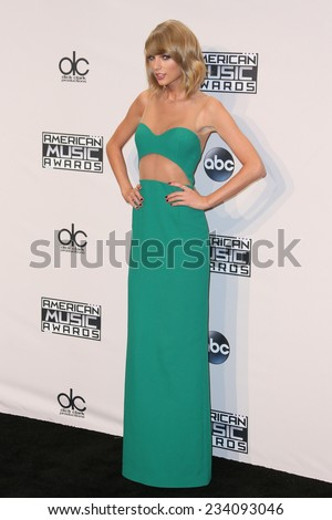 LOS ANGELES NOV 23 Taylor Swift at the 2014 American Music Awards Press Room at the Nokia Theater on November 23 2014 in Los Angeles CA
