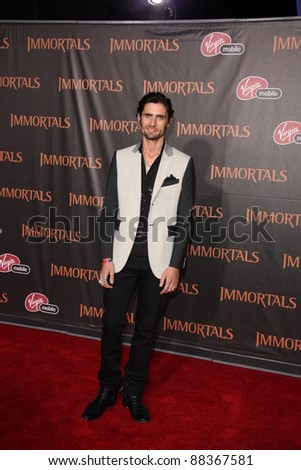 """LOS ANGELES - NOV 7:  Tyson Ritter arrives at the """"Immortals 3D"""" Premiere at Nokia Theater at LA Live on November 7, 2011 in West Hollywood, CA"""