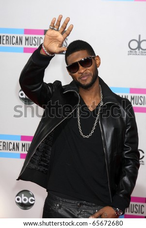 LOS ANGELES - NOV 21:  Usher arrives at the 2010 American Music Awards at Nokia Theater on November 21, 2010 in Los Angeles, CA