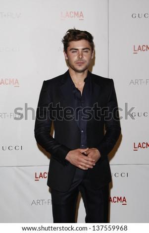 LOS ANGELES - NOV 5: Zac Efron at the LACMA Art + Film Gala on November 5, 2011 in Los Angeles, California