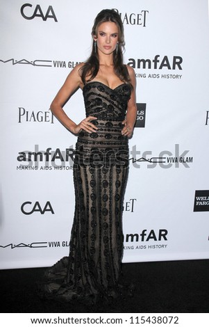 LOS ANGELES - OCT 11:  Alessandra Ambrosio arrives at the amfAR Inspiration Gala Los Angeles at Milk Studios on October 11, 2012 in Los Angeles, CA