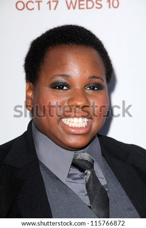 "LOS ANGELES - OCT 13:  Alex Newell arrives at the ""American Horror Story: Asylum"" Premiere Screening at Paramount Theater on October 13, 2012 in Los Angeles, CA"