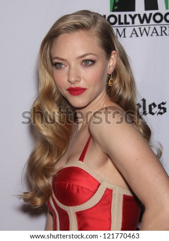 LOS ANGELES - OCT 22: Amanda Seyfried arrives to Hollywood Film Awards Gala 2012  on October 22, 2012 in Beverly Hills, CA