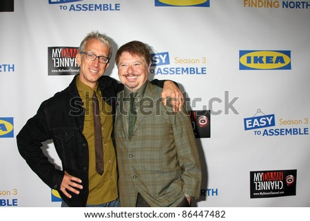 "LOS ANGELES - OCT 10:  Andy Dick, Dave Foley arriving at the Web-series ""EASY TO ASSEMBLE""  FINDING NORTH webisode Premiere at the Egyptian Theatre on October 10, 2011 in Los Angeles, CA"