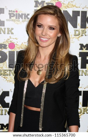 """LOS ANGELES - OCT 11:  Audrina Patridge arrives at the """"Mr. Pink"""" Energy Drink Launch at Beverly Wilshire Hotel on October 11, 2012 in Beverly Hills, CA"""