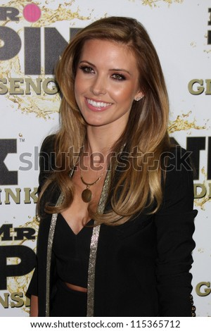 "LOS ANGELES - OCT 11:  Audrina Patridge arrives at the ""Mr. Pink"" Energy Drink Launch at Beverly Wilshire Hotel on October 11, 2012 in Beverly Hills, CA"