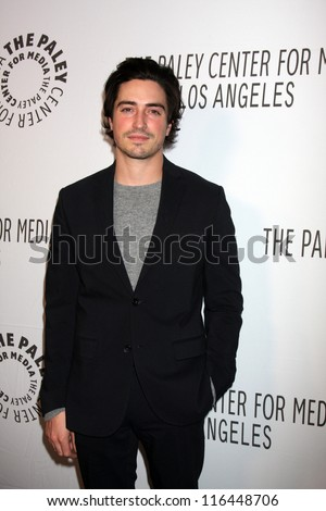 LOS ANGELES - OCT 22:  Ben Feldman arrives at  the Paley Center for Media Annual Los Angeles Benefit at The Lot on October 22, 2012 in Los Angeles, CA