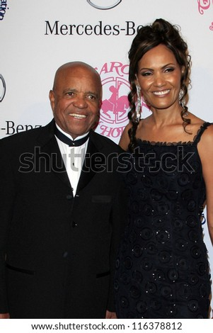 LOS ANGELES - OCT 20:  Berry Gordy and wife arrives at  the 26th Carousel Of Hope Ball at Beverly Hilton Hotel on October 20, 2012 in Beverly Hills, CA