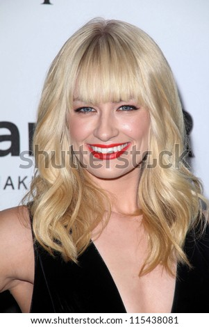 LOS ANGELES - OCT 11:  Beth Behrs arrives at the amfAR Inspiration Gala Los Angeles at Milk Studios on October 11, 2012 in Los Angeles, CA