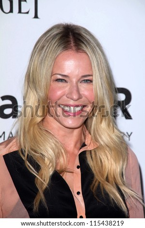 LOS ANGELES - OCT 11:  Chelsea Handler arrives at the amfAR Inspiration Gala Los Angeles at Milk Studios on October 11, 2012 in Los Angeles, CA - stock photo