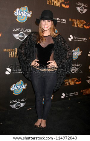 LOS ANGELES - OCT 7:  Christa B. Allen arrives at the 4th Annual Los Angeles Haunted Hayride VIP Premiere Night at Griffith Park on October 7, 2012 in Los Angeles, CA - stock photo