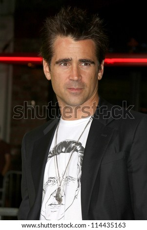 """LOS ANGELES - OCT 30:  Colin Farrell arrives at the """"Seven Psychopaths"""" Premiere at Bruin Theater on October 30, 2012 in Westwood, CA - stock photo"""