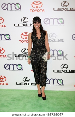 LOS ANGELES - OCT 15:  Constance Zimmer arriving at the 2011 Environmental Media Awards at the Warner Brothers Studio on October 15, 2011 in Beverly Hills, CA - stock photo