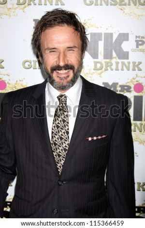 "LOS ANGELES - OCT 11:  David Arquette arrives at the ""Mr. Pink"" Energy Drink Launch at Beverly Wilshire Hotel on October 11, 2012 in Beverly Hills, CA"