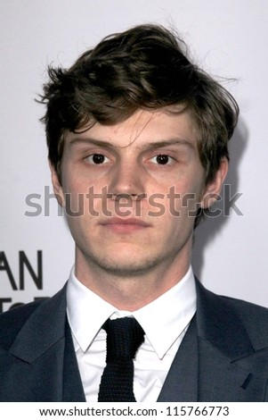 "LOS ANGELES - OCT 13:  Evan Peters arrives at the ""American Horror Story: Asylum"" Premiere Screening at Paramount Theater on October 13, 2012 in Los Angeles, CA"