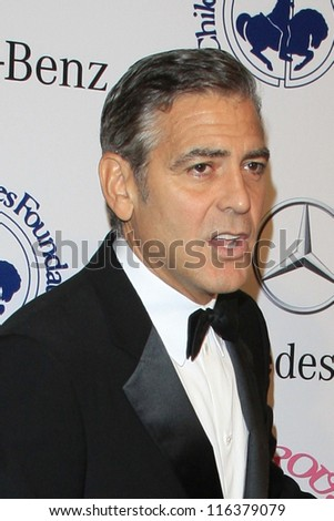 LOS ANGELES - OCT 20:  George Clooney arrives at  the 26th Carousel Of Hope Ball at Beverly Hilton Hotel on October 20, 2012 in Beverly Hills, CA