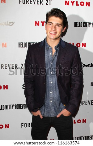 LOS ANGELES - OCT 15:  Gregg Sulkin arrives at  Nylon's October IT Issue party at London West Hollywood on October 15, 2012 in Los Angeles, CA