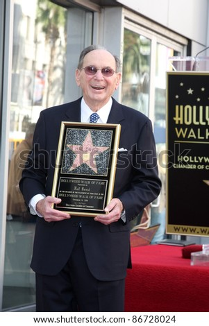 LOS ANGELES - OCT 14:  Hal David at the Ceremony to Bestow a Star on the Hollywood Walk of Fame for Hal David at the Musicians Institute on October 14, 2011 in Los Angelees, CA