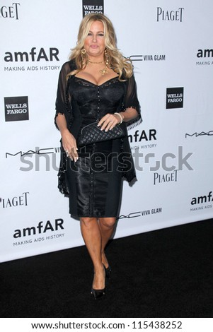 LOS ANGELES - OCT 11:  Jennifer Coolidge arrives at the amfAR Inspiration Gala Los Angeles at Milk Studios on October 11, 2012 in Los Angeles, CA