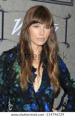 LOS ANGELES - OCT 5:  Jessica Biel arrives at the Variety's 4th Annual Power Of Women Event at Beverly Wilshire Hotel on October 5, 2012 in Beverly Hills, CA - stock photo