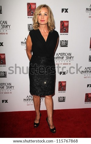 """LOS ANGELES - OCT 13:  Jessica Lange arrives at the """"American Horror Story: Asylum"""" Premiere Screening at Paramount Theater on October 13, 2012 in Los Angeles, CA - stock photo"""